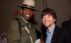 Yosemite park ranger Shelton Johnson and documentary film maker Ken Burns
