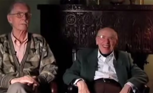 Screencap of Richard and John sitting together