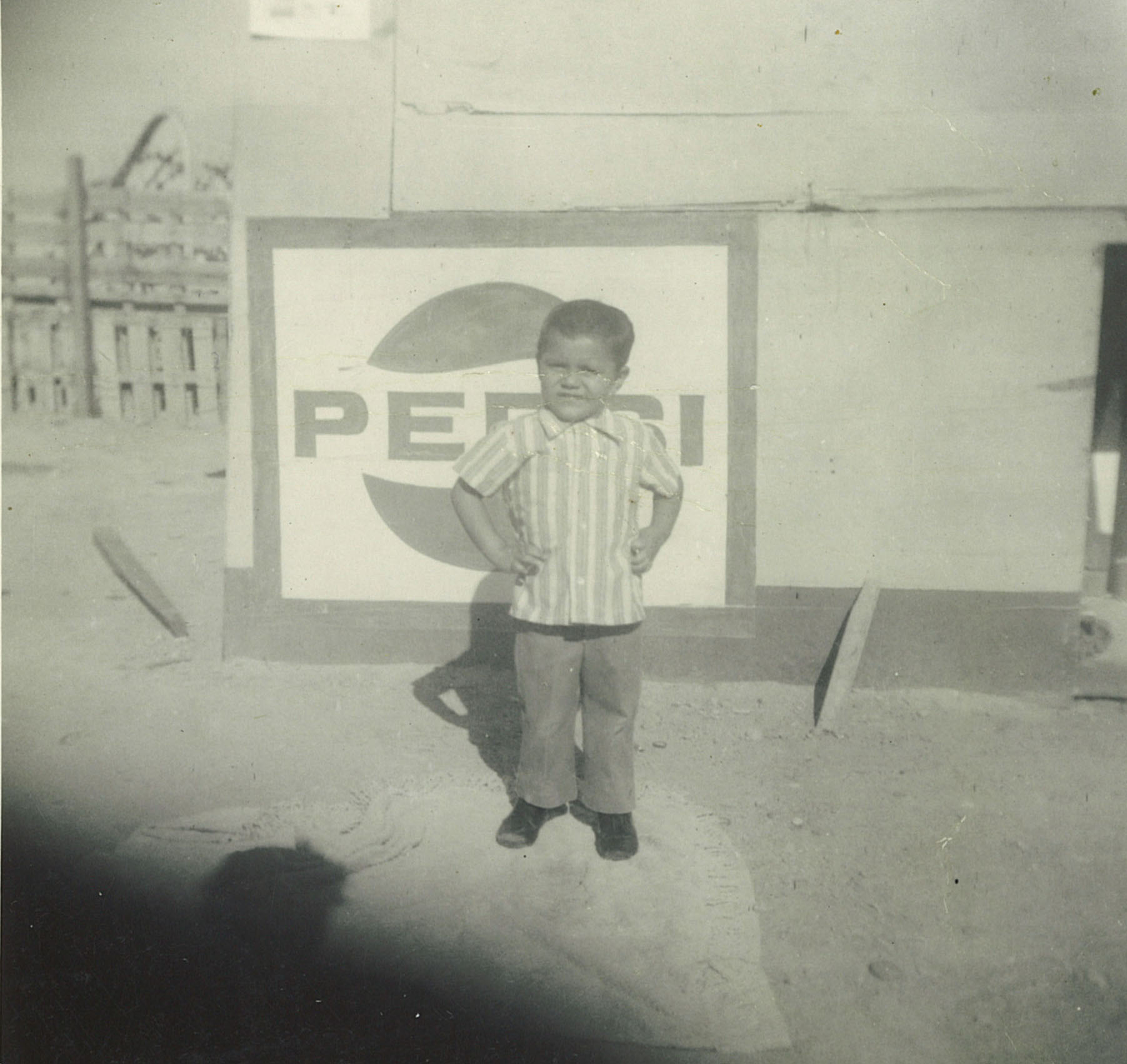 The author posing Mexico, age 4