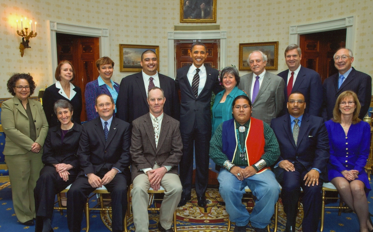 Ernesto Pepito and other youth leaders meeting with President Obama