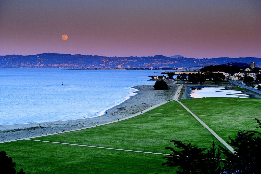 Moonrise over Crissy Field