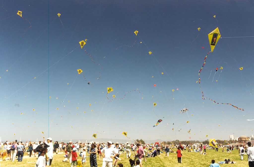 Kites over Crissy Field