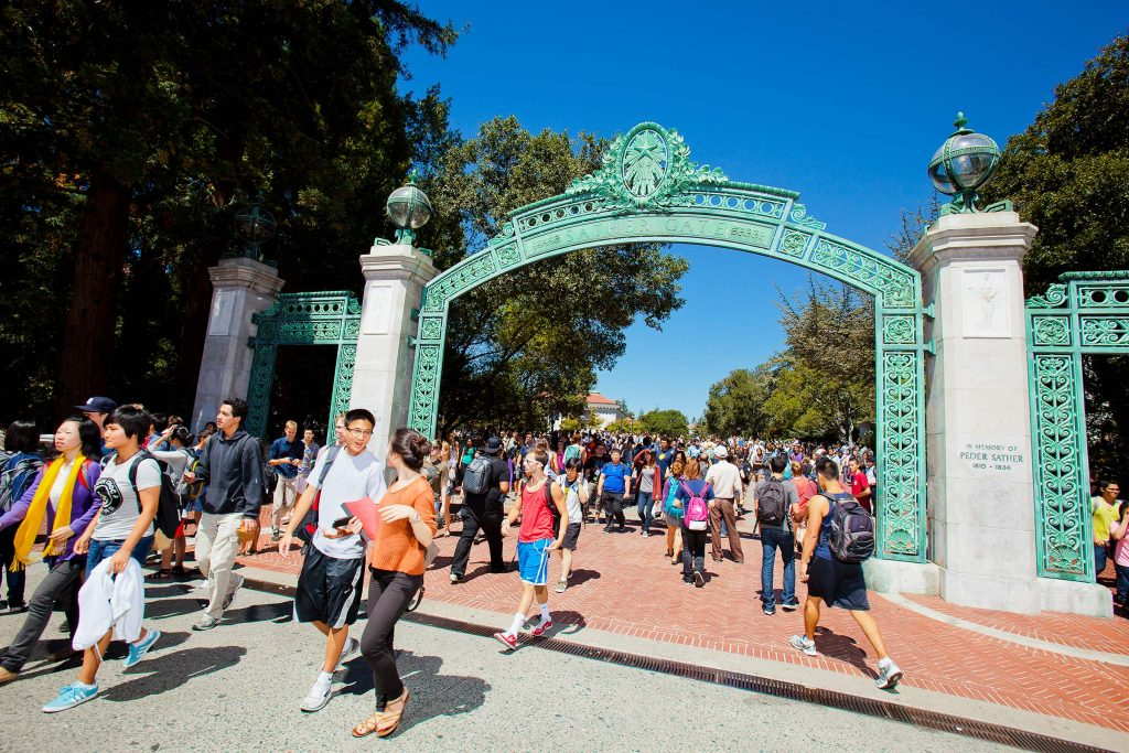 South Gate at U.C. Berkeley University with students