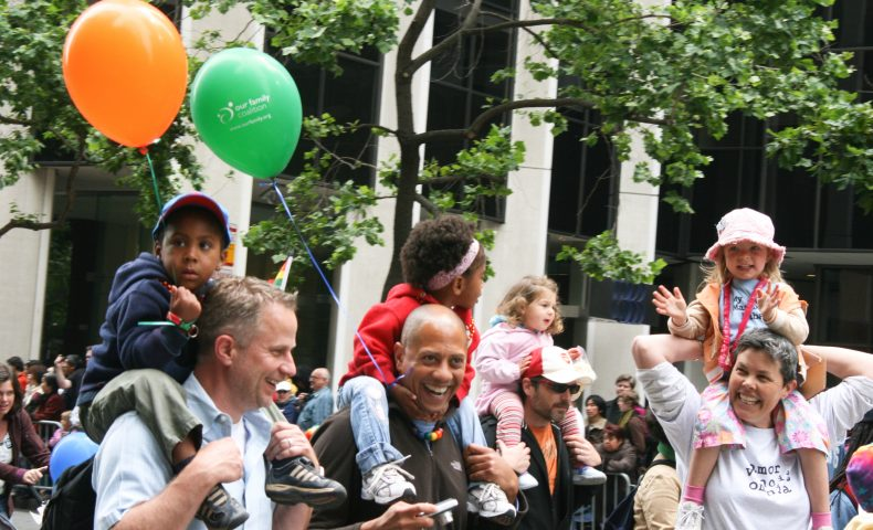 Parent and Children in San Francisco Pride Parade