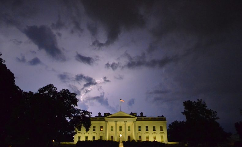 Stormy Night in Washington DC, Whitehouse