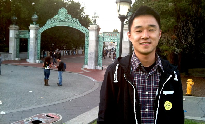 Undocumented student Ju Hong on UC Berkeley campus