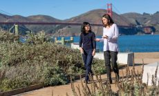 Jennie Watson and Cathy Cha at Crissy Field