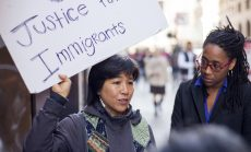 Rev. Deborah Lee protests child deportations