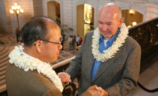 Gay couple weds in San Francisco City Hall when there was a legal window for same-sex marriage