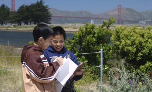 Kids journal at Crissy Field