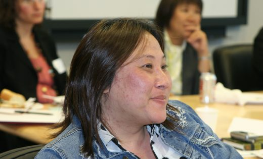 Close up of nonprofit leader at convening