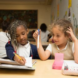 Two students doing homework SFUSD