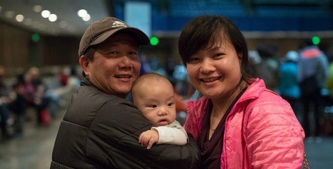 Family at Naturalization Clinic