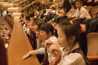 Children at Davies Hall
